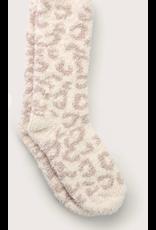 Barefoot Dreams CozyChic Heathered Socks in Safari Cream