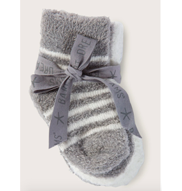 Barefoot Dreams Infant Socks 3 Pack in Pewter