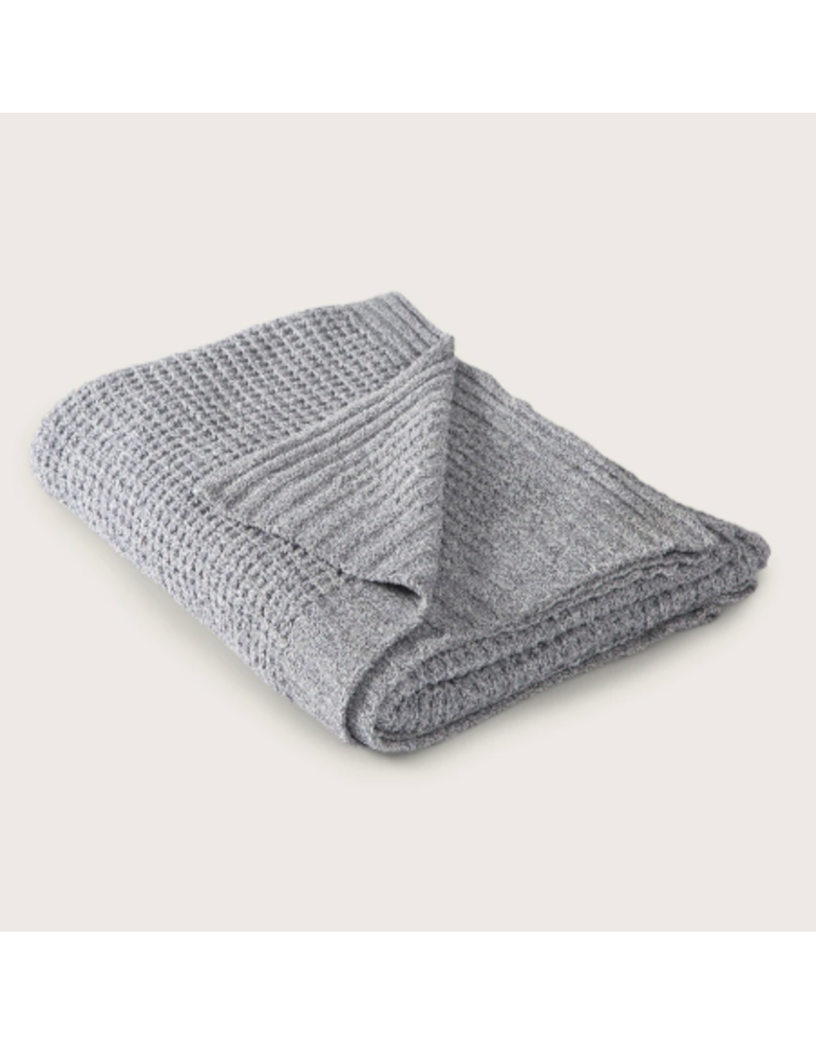 Barefoot Dreams Waffle Throw Blanket in Pacific Blue