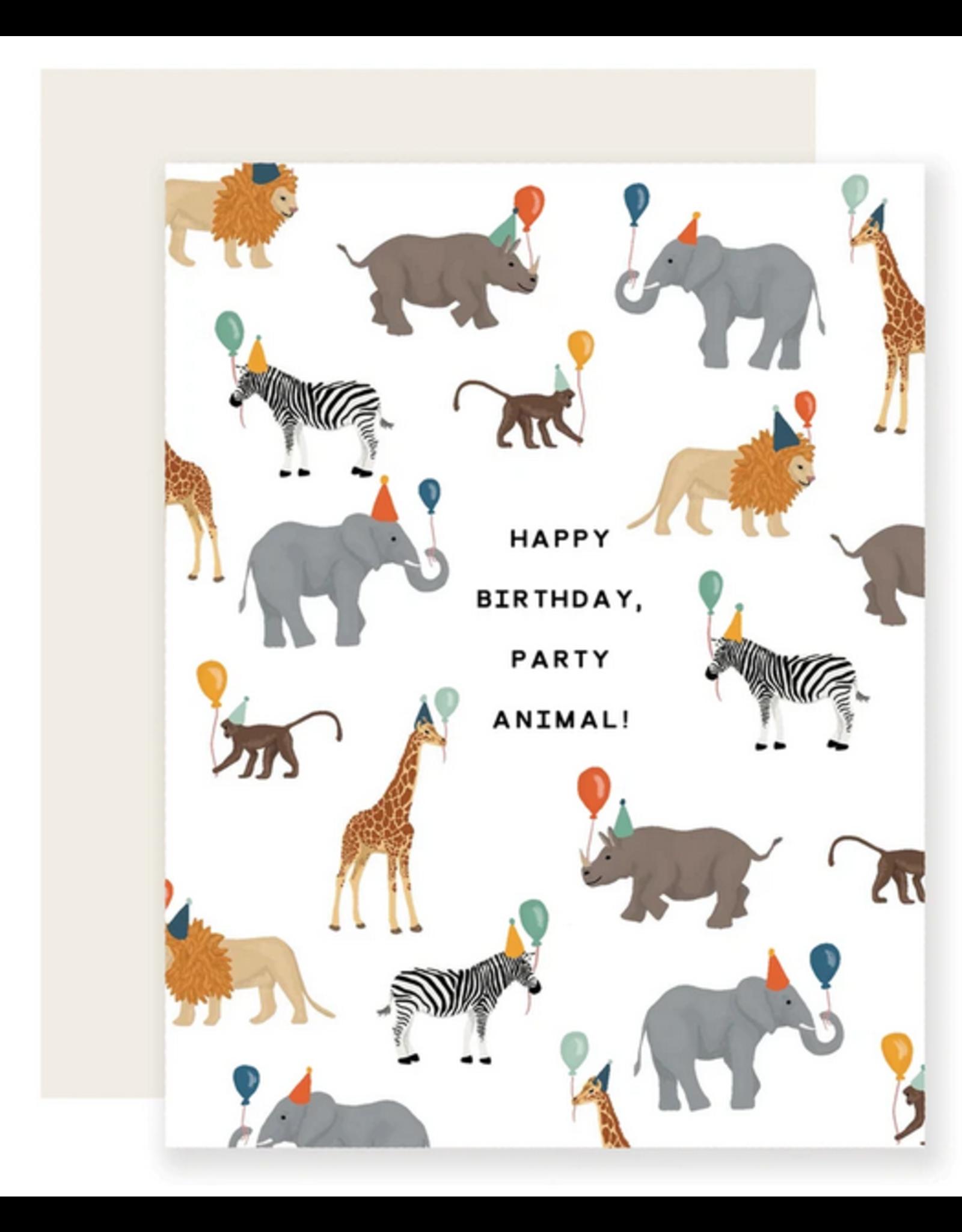 Safari Party Animal Card
