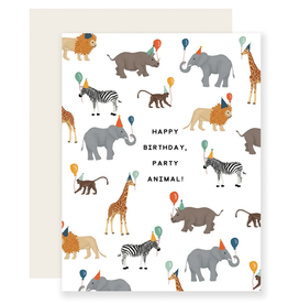 Slightly Stationery Safari Party Animal Card