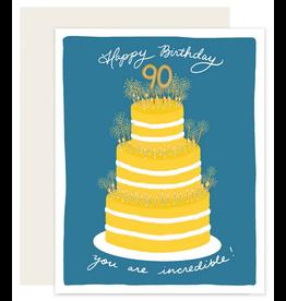 Slightly Stationery 90 Cake Card