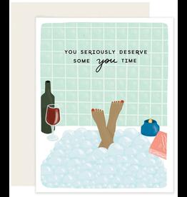 Slightly Stationery You Time Card