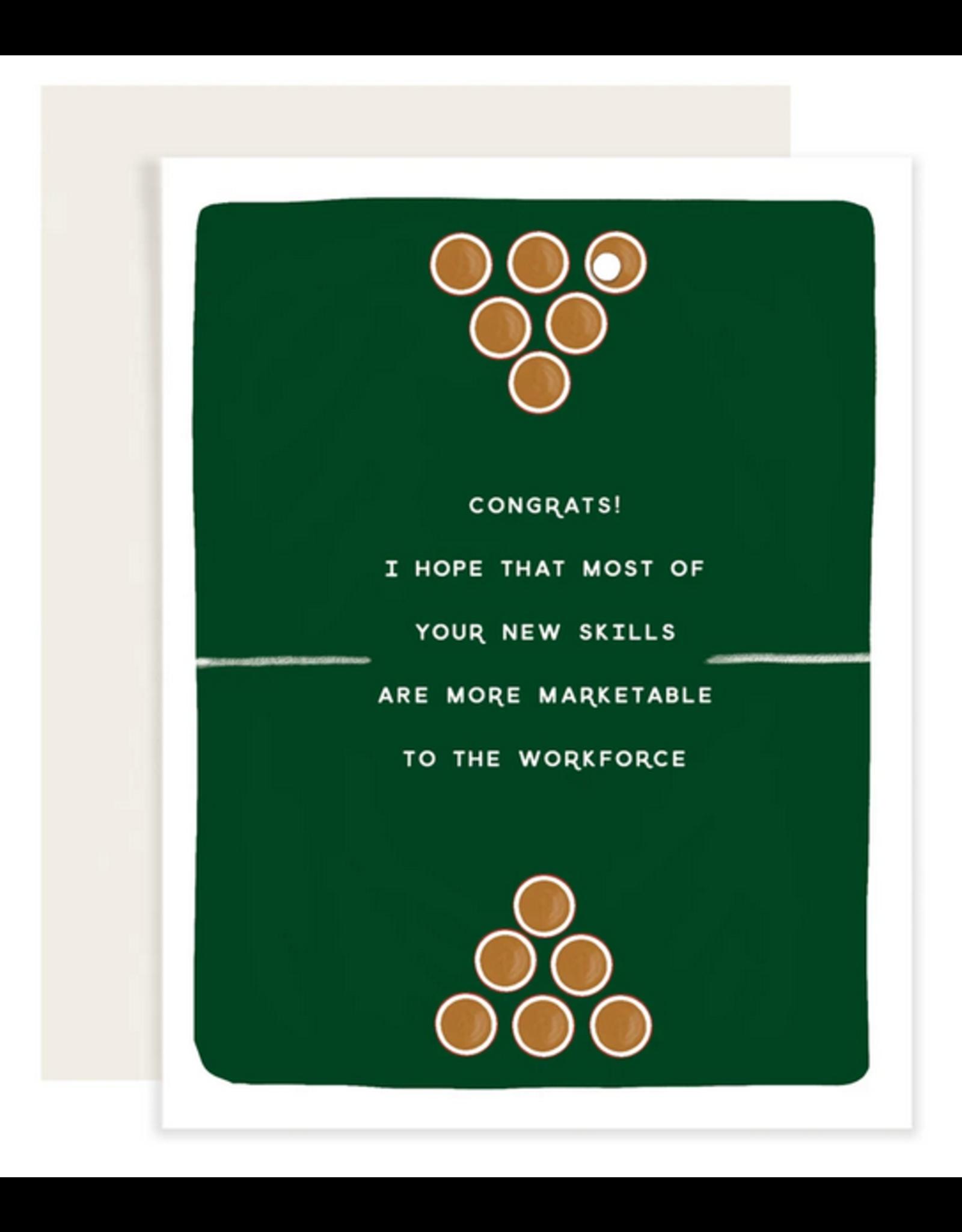 Slightly Stationery Beer Pong Card