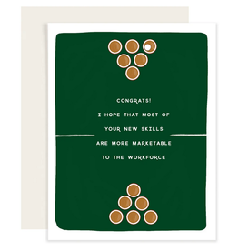 Slightly Stationery Beer Pong Card