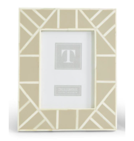 Geometrics Bone Frame 5x7 in Tan