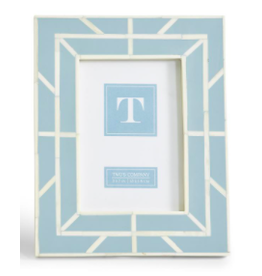 Geometrics Bone Frame 5x7 in Blue