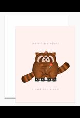 Dear Hancock I Owe You a Hug Card