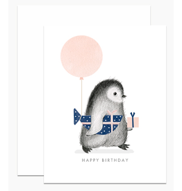 Dear Hancock Penguin with Wrapped Fish Gift Card