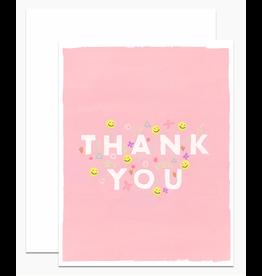 Dear Hancock Pink Thank You Card