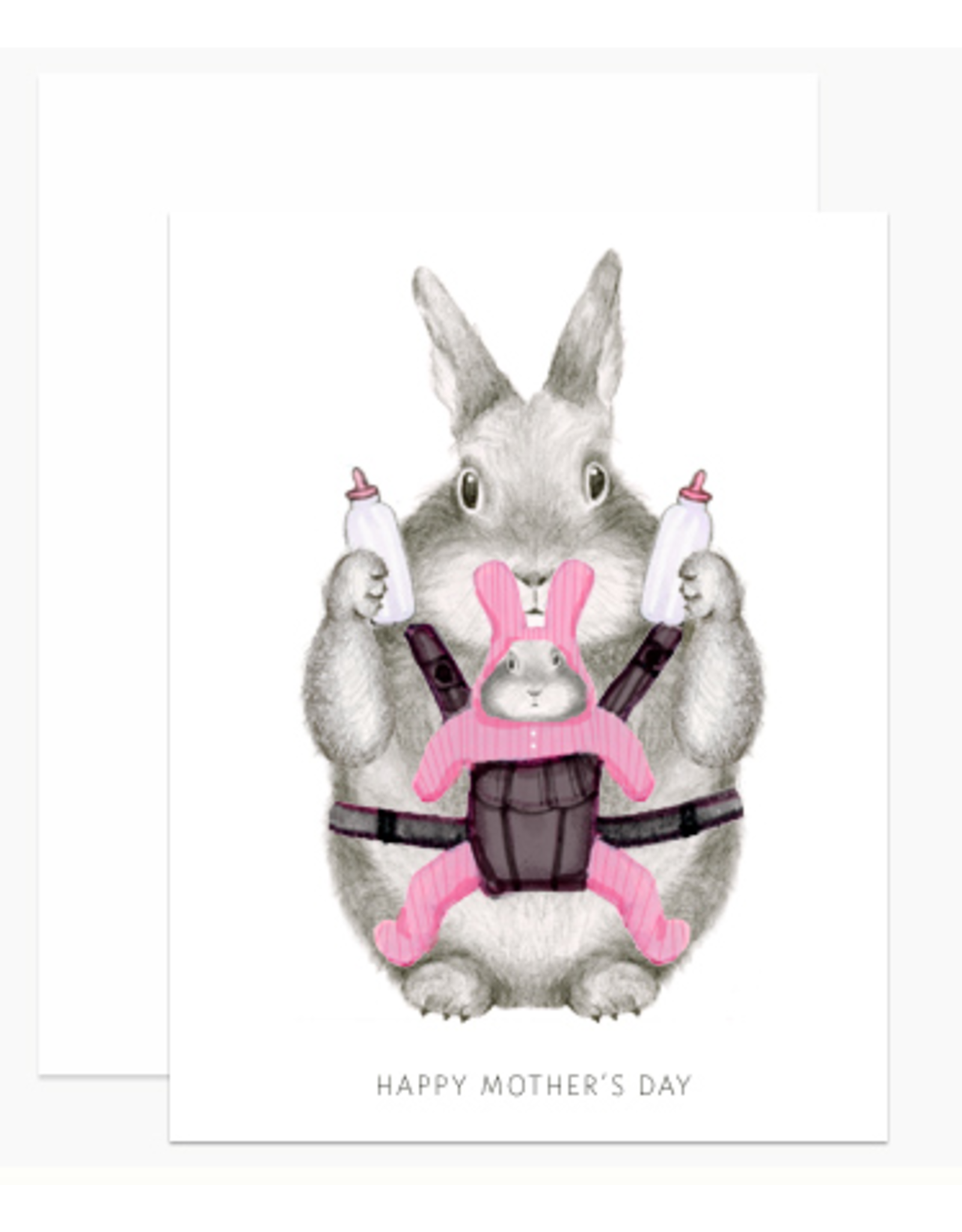 Dear Hancock Mom Bunny Card