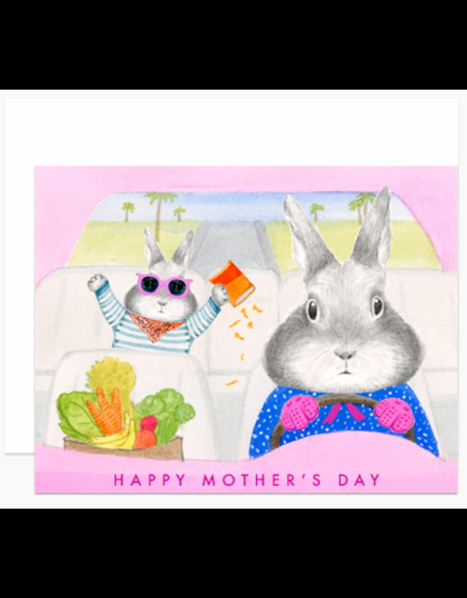 Dear Hancock Mom Bunny Driving Card