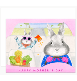 Dear Hancock Mom Bunny Driving Card