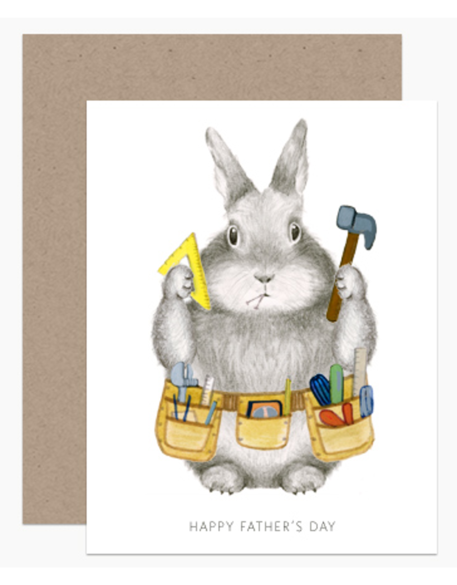 Dear Hancock Dad Bunny Card