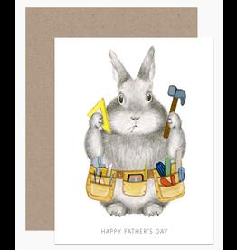Dear Hancock Dad Bunny Card