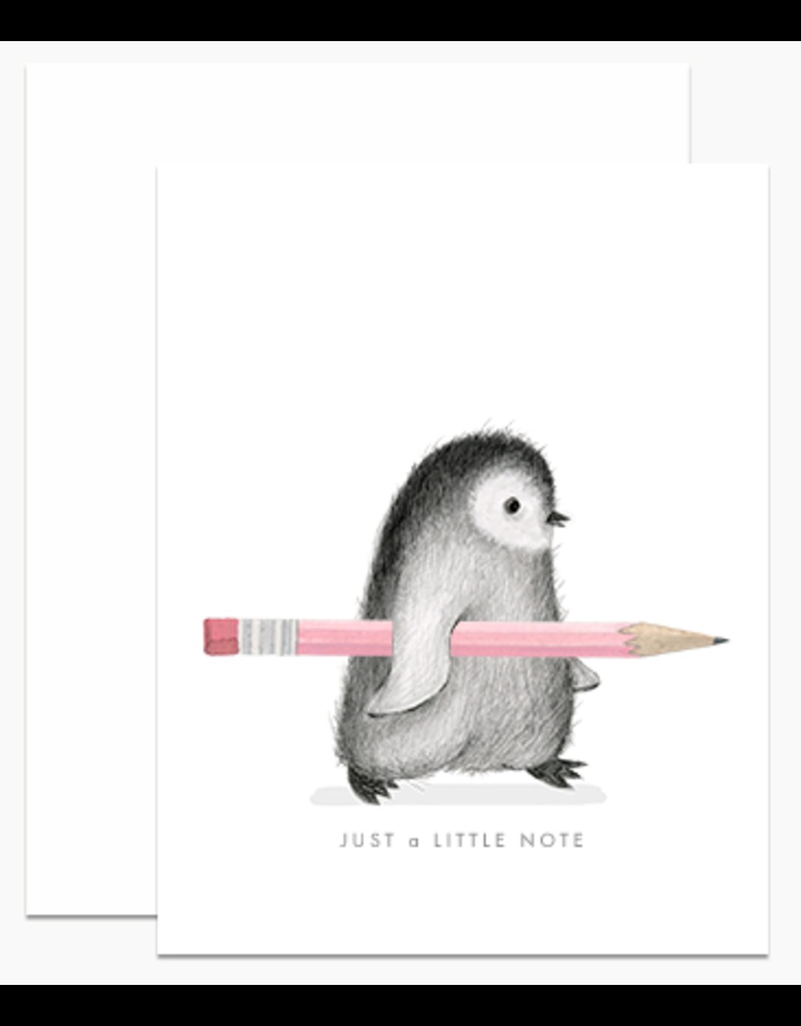 Dear Hancock Penguin With Pencil Card