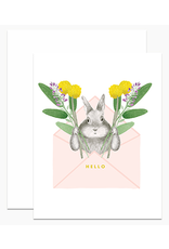 Dear Hancock Envelope Bunny Card