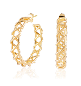Sahira Jewelry Asher Hoop Earrings