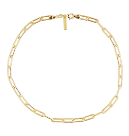 Sahira Jewelry Carrie Link Necklace in Gold