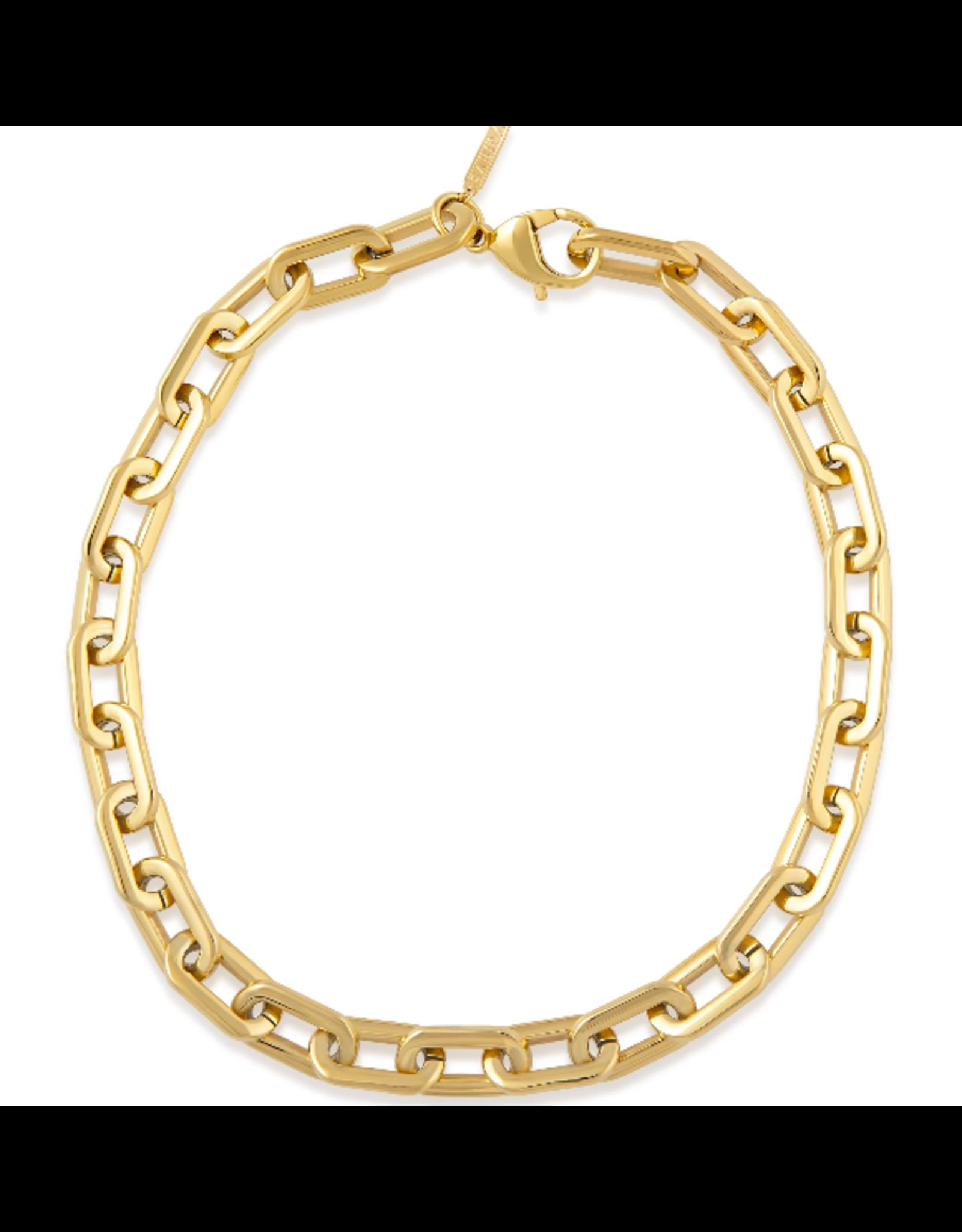 Sahira Jewelry Jenna Link Necklace in Gold
