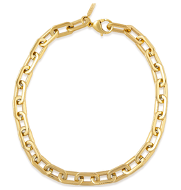 Sahira Jewelry Jenna Link Necklace in Gold