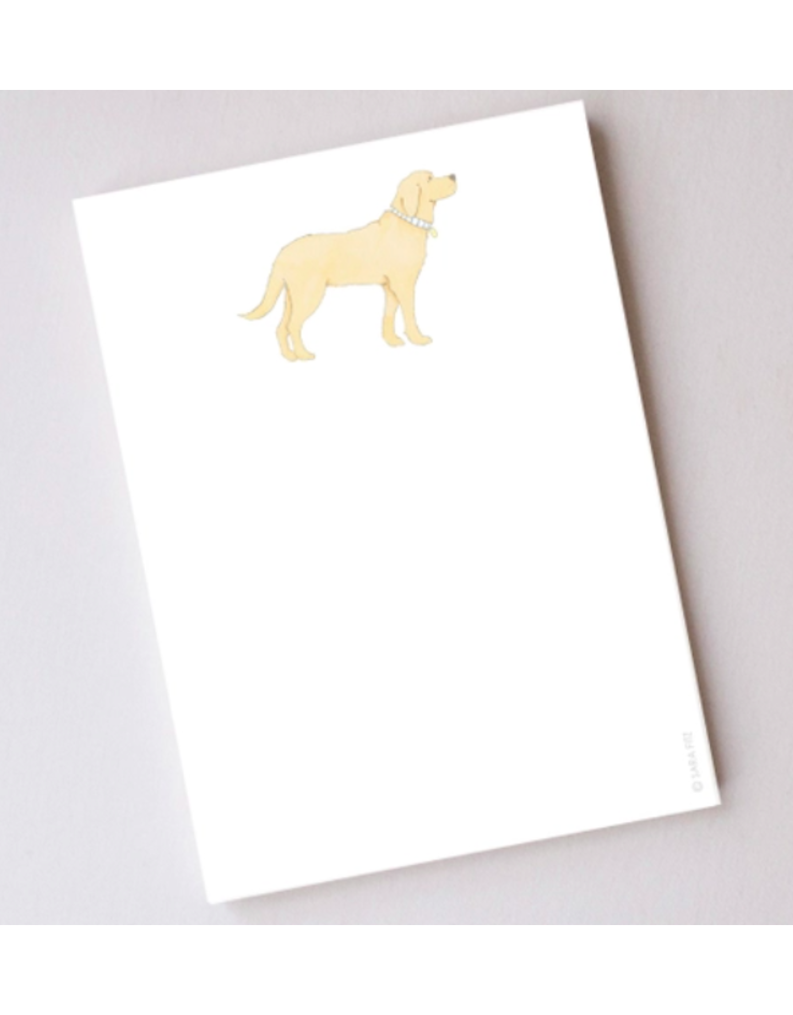 Sara Fitz Golden Pup Notepad by Sara Fitz