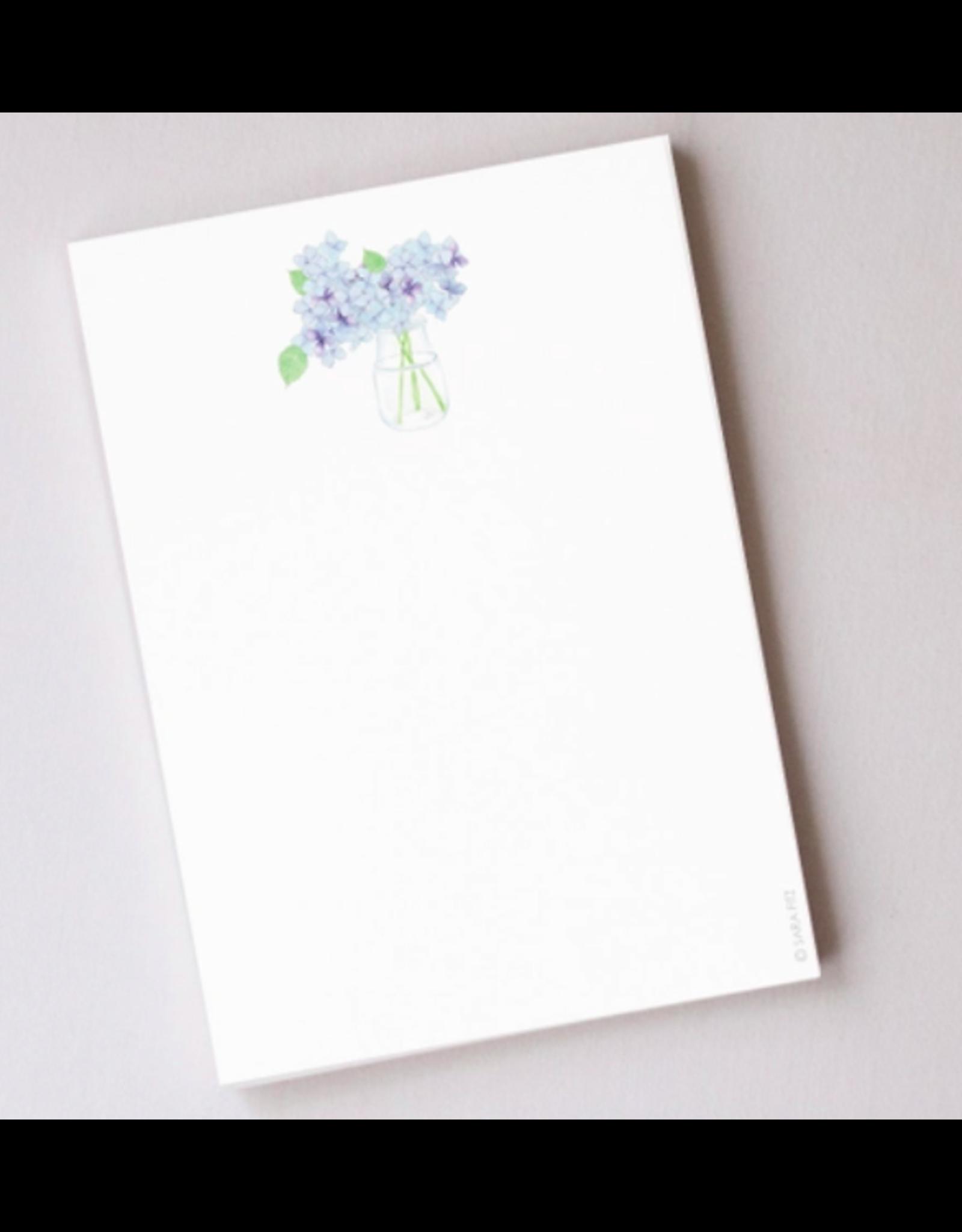 Sara Fitz Hydrangea Notepad by Sara Fitz