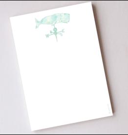 Sara Fitz Whale Weathervane Notepad by Sara Fitz