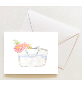 Sara Fitz French Stripe Tote Boxed Notecards by Sara Fitz