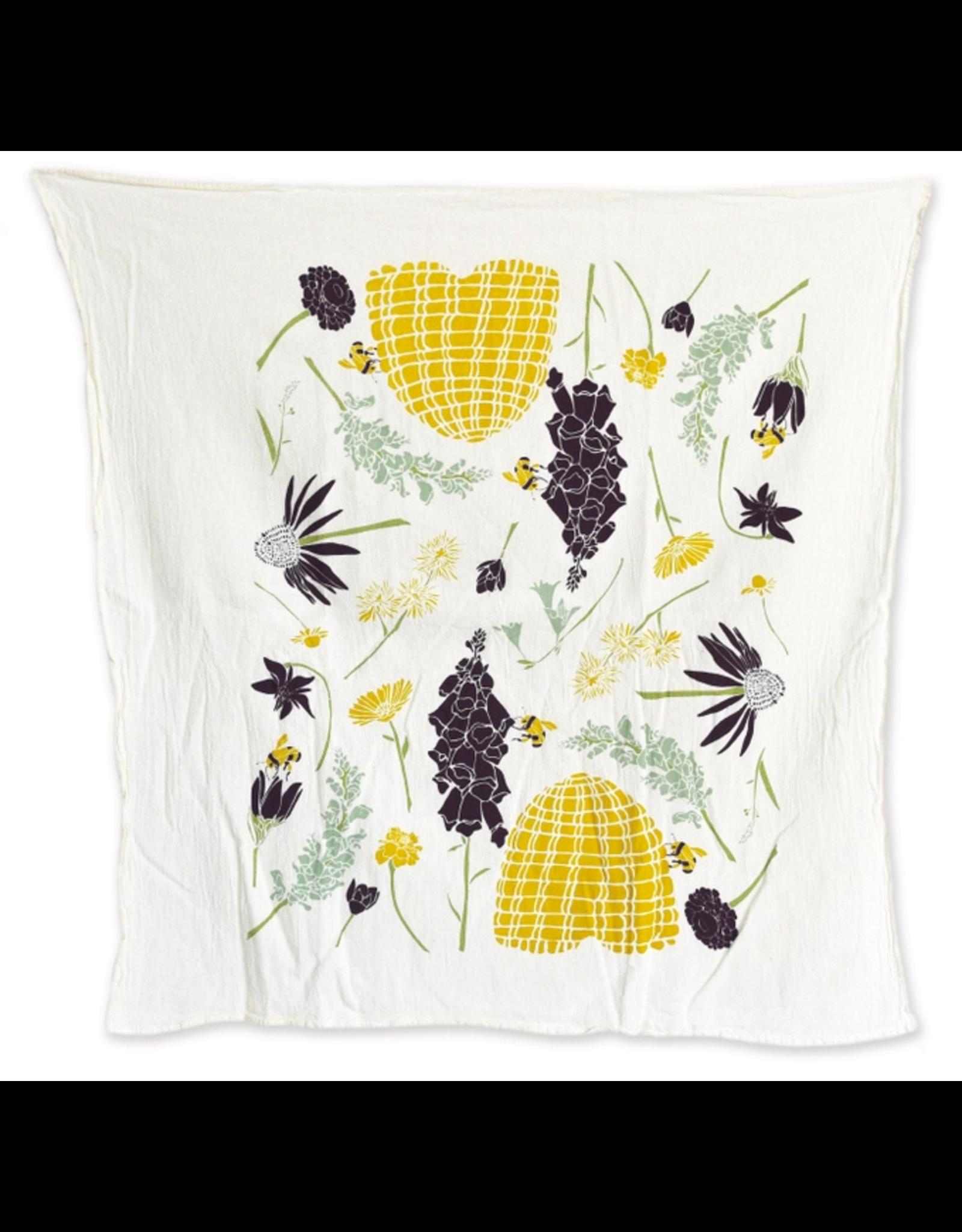 June & December Honeybee Garden Kitchen Towel