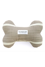 The Foggy Dog Modern Stripe Warm Stone Dog Bone Squeaky Toy