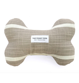 The Foggy Dog Modern Stripe Warm Stone Dog Bone Squeaky Toy