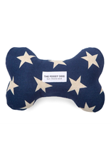 The Foggy Dog Navy Stars Dog Bone Squeaky Toy