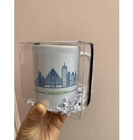RoseanneBECK Collection Charlestown Skyline Mug in Navy and Green