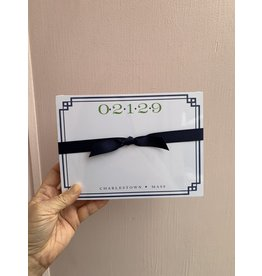 02129 with Border in Navy Notepad