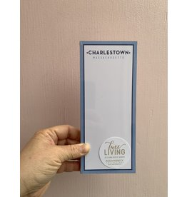 RoseanneBECK Collection Charlestown Massachusetts with Periwinkle Border Luxe Skinny Notepad