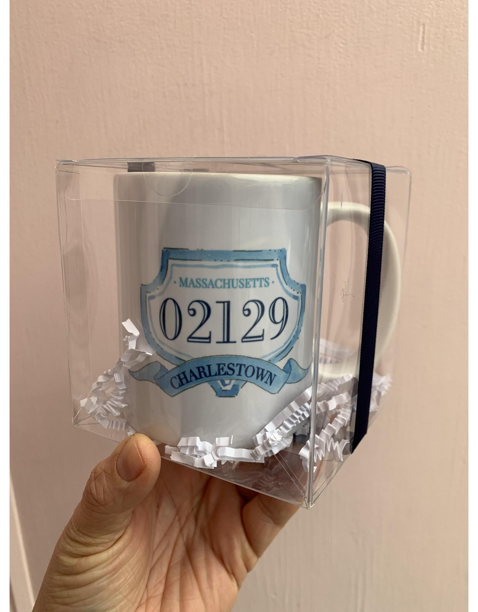 RoseanneBECK Collection Charlestown Crest Mug in Cornflower Blue