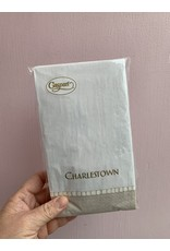 Caspari Natural Linen Charlestown Guest Towel