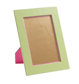 "Caspari Lizard 4"" x 6"" Frame in Green"