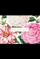 Caspari Camellias Thank You Note Box