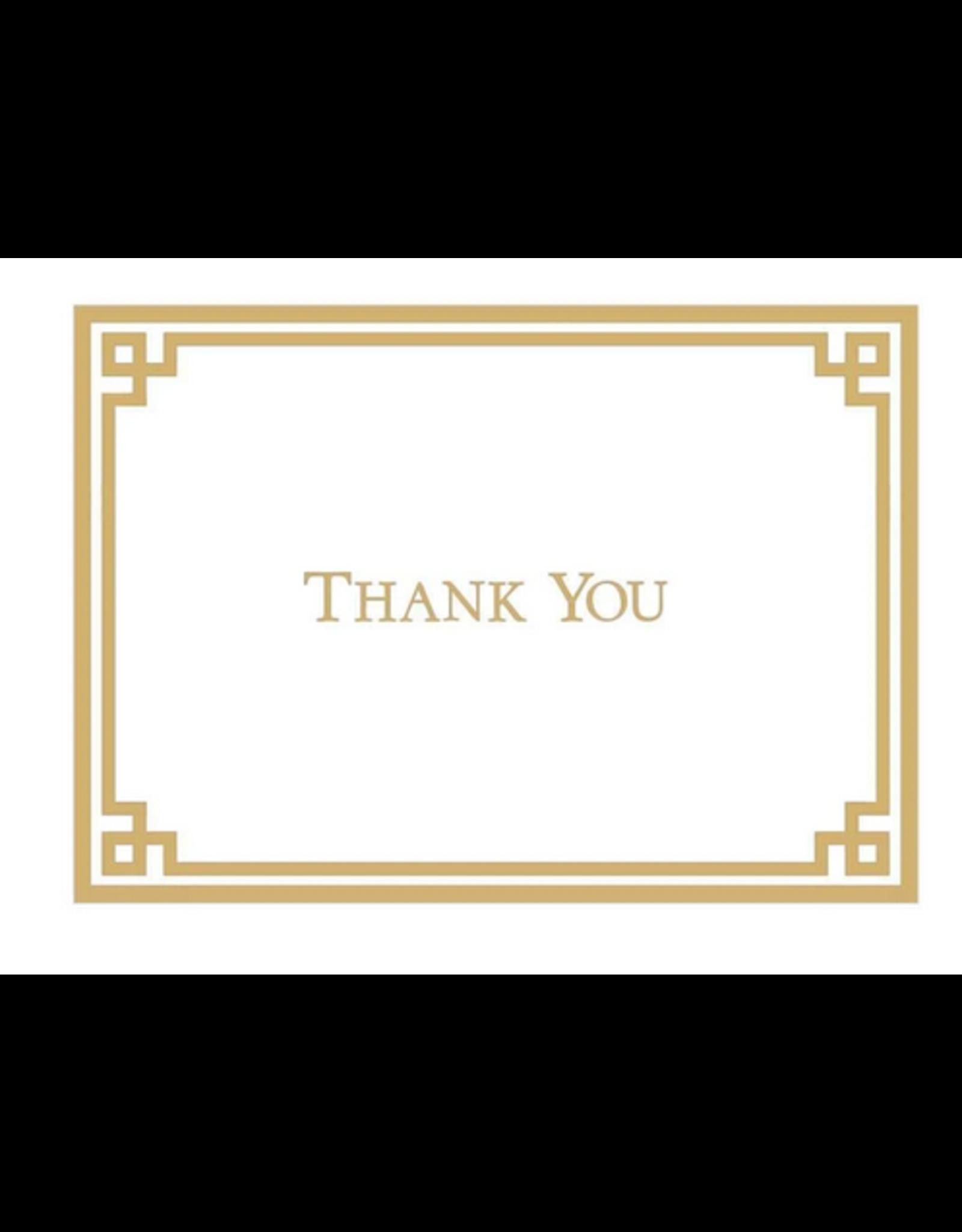 Caspari Gauche Gold and White Thank You Note Box