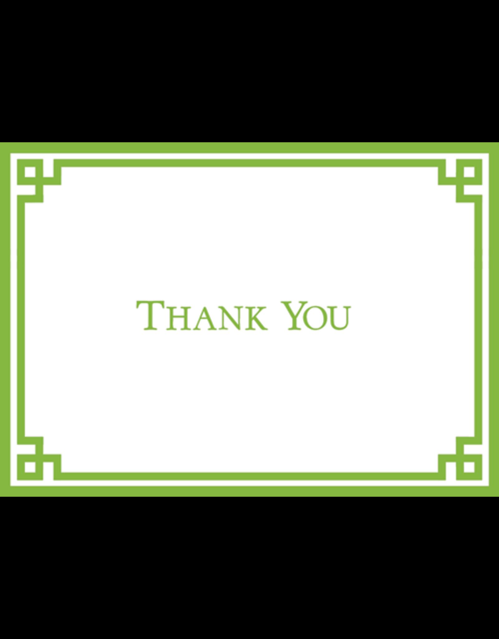 Caspari Gauche Green and White Thank You Note Box