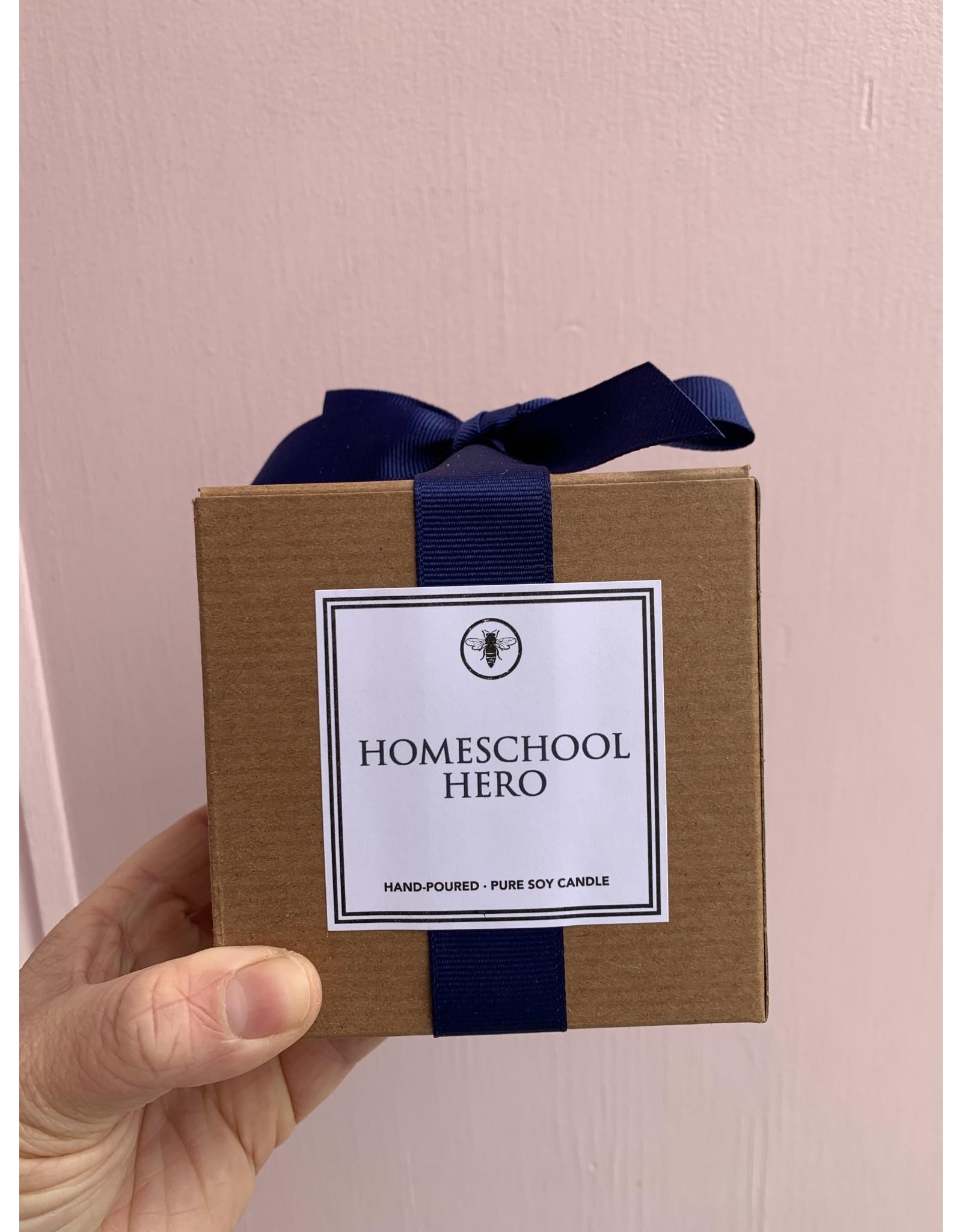 Homeschool Hero Candle