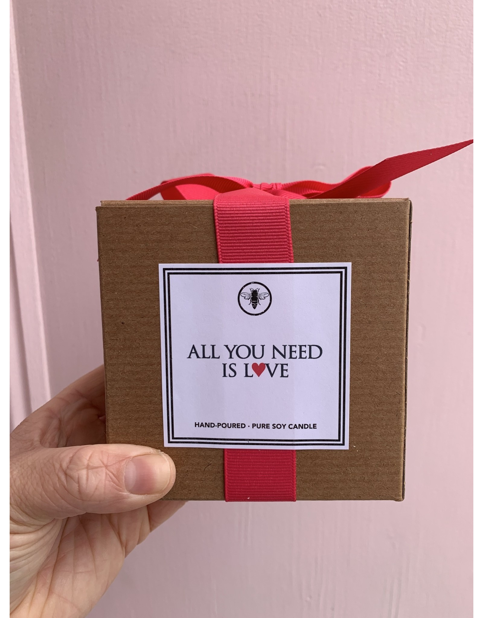 All You Need Is Love Candle