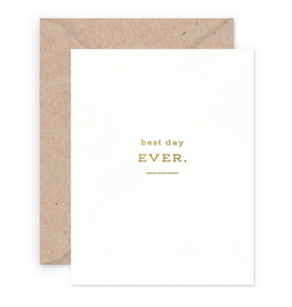Smitten on Paper Best Day Ever Greeting Card