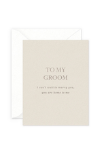 Smitten on Paper To My Groom Greeting Card