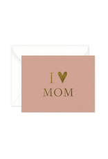 Smitten on Paper I Heart Mom Greeting Card