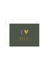 Smitten on Paper I Heart Dad Greeting Card