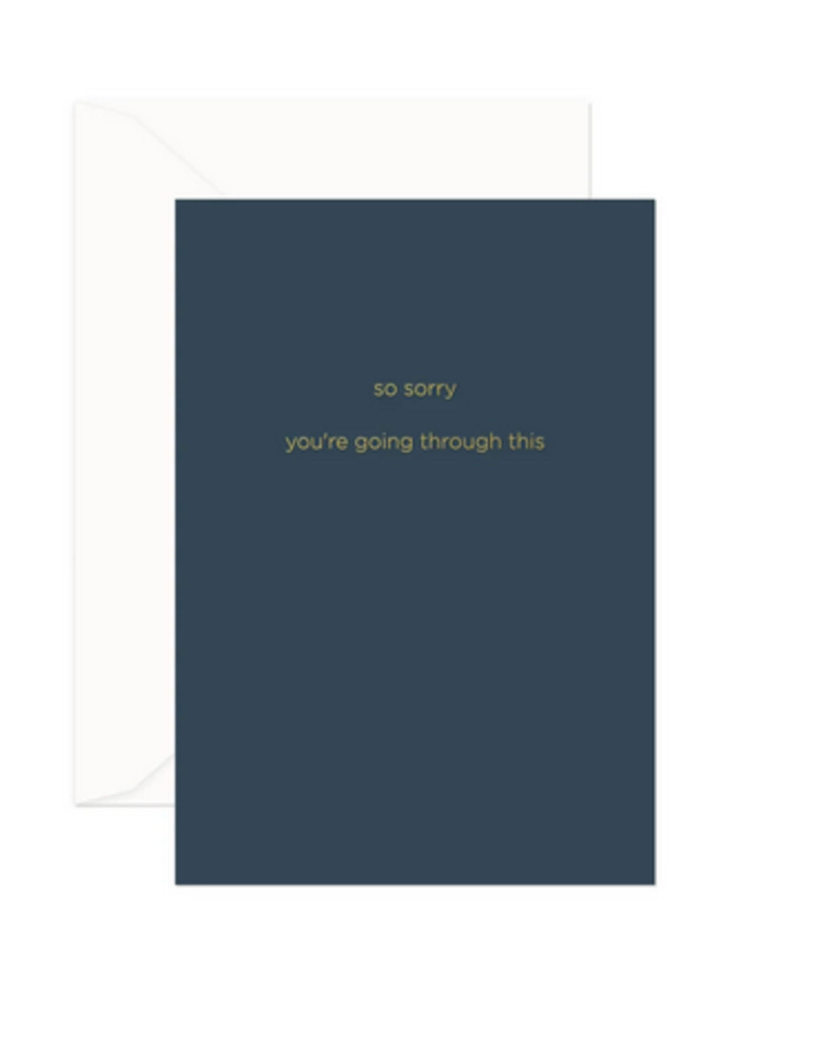 Smitten on Paper So Sorry Greeting Card