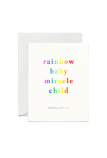 Smitten on Paper Rainbow Baby Greeting Card